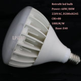 E40 past het Lichte LEIDENE van de Baai Licht voor de Industriële Lamp van het Pakhuis retroactief aan