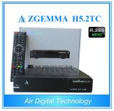 Los sintonizadores 2017 del linux Enigma2 Zgemma H5.2tc tres DVB-S2+ 2X DVB-T2/C se doblan rectángulo superior determinado del cable de Hevc H. 265 de la base