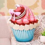 Het levensechte Hoofdkussen van Cupcake van de Druk
