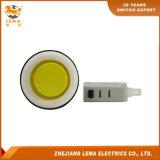 Commutateur micro Pbs-001 de bouton poussoir en plastique jaune électrique