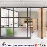 현대 사무실 알루미늄 유리제 칸막이벽