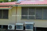 Condicionador solar híbrido fixado na parede com as tubulações de cobre da conexão de 100%