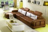Sofá moderno del cuero de la esquina de la sala de estar para el hogar (UL-NS265)