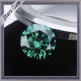 Diamante de Moissanite de uma cor verde de 1 quilate 6.5mm