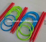 Conjunto plástico del juego de la sacudida de la herradura y del anillo