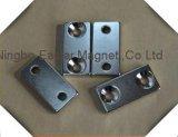 N35-N52 permanenter NdFeB Block-Magnet mit speziellen Löchern