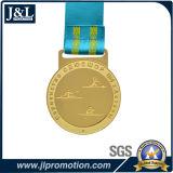 顧客デザイン光沢がある金メダルHのタイプリボン