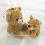Urso de peluche recheado e peluche Keychain