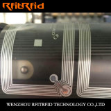 Anti-Falsificación frágil de aluminio entera de la escritura de la etiqueta de 13.56MHz RFID