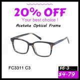 Frame ótico dos Eyeglasses novos do acetato da forma dos vidros do OEM para a mulher/homens