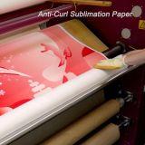 """64 """" papel de antienrollamiento de secado rápido de la inyección de tinta de la sublimación del tinte de la anchura 78GSM para la pista de la impresión Dx-5/Dx-7"""