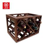 La botella 11 enrejó el estante de madera usado hogar europeo del vino del estilo