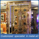 Manufactre de Fatactry Puerta interior de acero brillante dorada para el club