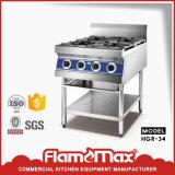 Poêle de brûleurs à l'acier inoxydable 6 de Flamemax (HGR-36)