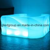 16colors LED nachladbarer LED Stab-Plastikkostenzähler der hellen Möbel-für Nachtklub