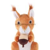 Cute Kids Toy Sitting Forest brinquedo de animais Stuffed Plush Squirrel