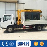 유압 붐 자동차 3 톤 판매를 위한 소형 트럭 기중기