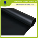 encerado revestido da cor do vinil 100% preto resistente do PVC 22oz