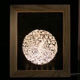 Красное деревянное украшение света ночи бабочки рамки СИД