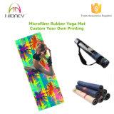 Напечатанная комбинированная циновка йоги (3mm). Циновка Eco-Friendly и Non выскальзования йоги
