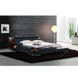 Кровать софы неподдельной кожи типа Кореи самомоднейшая для мебели спальни - Fb8142