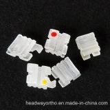 0.018/0.022 corchetes de cerámica dental con el Ce, ISO, certificado del FDA