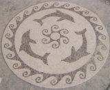 De Tegel van de Vloer van het mozaïek, het Ronde Medaillon van het Mozaïek van het Patroon Marmeren voor het Ontwerp van de Vloer