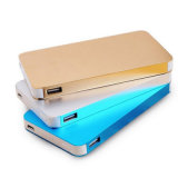 8000mAh Super Slim Metal Texture Power Bank para carregador de telefone inteligente