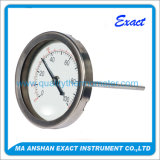 Tutto il termometro dell'acciaio inossidabile, calibro bimetallico di temperatura di industria