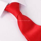 Relation étroite de robe rayée formelle de couleur solide de la cravate 7.5cm de jacquard de couleur solide de relation étroite de carrière d'affaires d'hommes