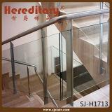 Il corrimano residenziale di vetro Tempered di Inox progetta l'inferriata del balcone (SJ-H1740)