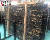 高品質の建築材料の床および壁のためのイタリアのPortoroの大理石の平板
