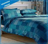 カラーパッチワークデザインMicrofiberの羽毛布団カバー寝具