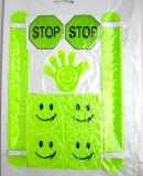 Autoadesivo riflettente personalizzato sicurezza sorridente riflettente dei fronti del PVC