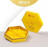 Cadre de papier jaune de module de produit alimentaire teint par simplicité