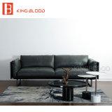Софа серого цвета самомоднейшая кожаный для живущий мебели комнаты