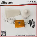 El amplificador caliente Dcs/3G 1800/2100MHz de la señal de la venta 2017 se dobla aumentador de presión de la venda con el LCD