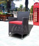Chaise en aluminium en osier en aluminium Alum Garland Woven Outdoor Pario Furniture (GT4)