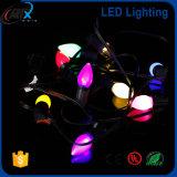 O partido C7C9 ilumina o bulbo decorativo da corda das luzes de Natal das luzes