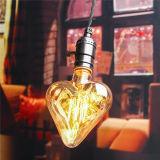 estrella de la lámpara de la vendimia de la luz incandescente del filamento de 220V E27 6W Edison/bulbo retros de la dimensión de una variable del corazón