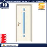 Portello di legno composito di legno della stanza da bagno dell'impiallacciatura del PVC dell'interiore