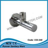 Válvula de ángulo mínima redonda para el lavabo de colada (V22-240)