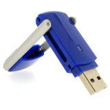 선전용 회전대 USB 섬광은 OEM 주문 로고 플라스틱 USB를 몬다