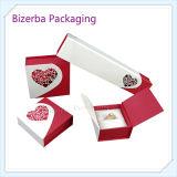 Kundenspezifische weiße Luxuxpappe/steifer verpackender Papierschmucksache-Geschenk-Kasten (BP-BC-0020)