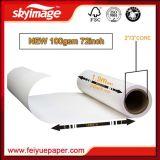 papier de transfert à transfert élevé de sublimation de roulis de grand format du taux 100GSM72inch (1820mm) pour l'impression de Digitals