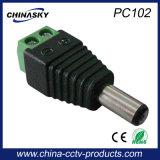 2.1 * و 5.5mm CCTV ذكر العاصمة موصل الطاقة مع محطة برغي (PC102)