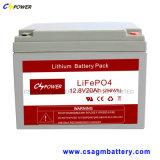 Lunga vita profonda 12V12ah della batteria di litio di scarico per solare
