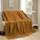 100% poliéster Manta de lana de franela de color sólido en el sofá