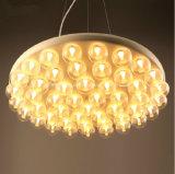 現代創造的なマルチヘッドLED円形のガラスランプの食堂の居間棒喫茶店LEDの照明シャンデリア