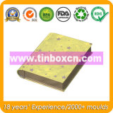 Cadre de bidon de forme de livre pour l'empaquetage de boîte en fer blanc de cadeau